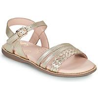 Pantofi Fete Sandale  Little Mary LIME Auriu