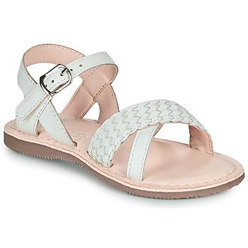 Pantofi Fete Sandale  Little Mary LIANE Alb
