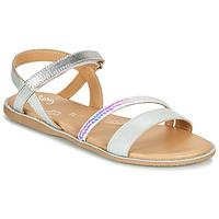 Pantofi Fete Sandale  Little Mary DOLERON *METAL ARGENT
