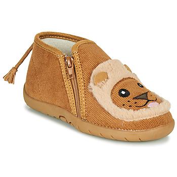 Pantofi Copii Papuci de casă Little Mary LIONZIP Coniac