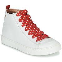 Pantofi Fete Pantofi sport stil gheata Little Mary SASHA (VE014) Alb / Roșu