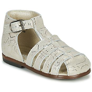Pantofi Fete Sandale  Little Mary JULES Auriu