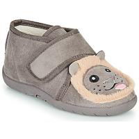 Pantofi Copii Papuci de casă Little Mary LIONVELCRO Gri