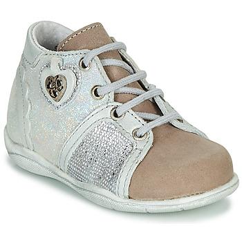 Pantofi Fete Ghete Little Mary VANILLE Argintiu / Taupe