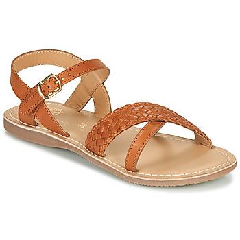 Pantofi Fete Sandale  Little Mary LIANE Coniac