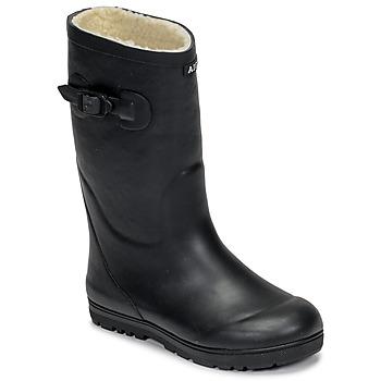 Pantofi Copii Cizme de cauciuc Aigle WOODY POP FUR Bleumarin