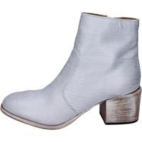 Pantofi Femei Botine Moma stivaletti pelle Argento