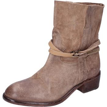 Pantofi Femei Botine Moma stivaletti camoscio Beige