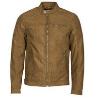 Îmbracaminte Bărbați Jachete din piele și material sintetic Jack & Jones JJEROCKY Coniac