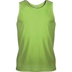 Îmbracaminte Bărbați Maiouri și Tricouri fără mânecă Proact Débardeur  Sport vert fluo