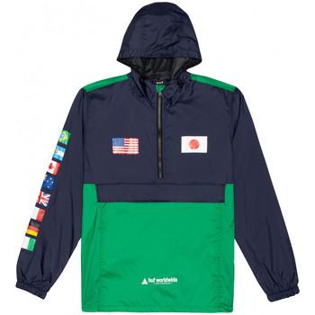 Îmbracaminte Bărbați Jacheta de vânt Huf Jacket flags anorak albastru