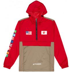 Îmbracaminte Bărbați Jacheta de vânt Huf Jacket flags anorak roșu