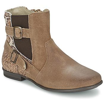 Pantofi Fete Ghete Aster DESIA Taupe / Imprimeuri