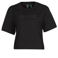 Îmbracaminte Femei Tricouri mânecă scurtă G-Star Raw BOXY FIT RAW EMBROIDERY TEE Negru