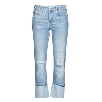 Îmbracaminte Femei Jeans drepti G-Star Raw NOXER HIGH STRAIGHT WMN Albastru