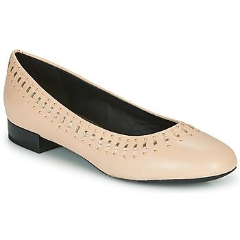 Pantofi Femei Balerin și Balerini cu curea Geox D WISTREY Roz / Auriu