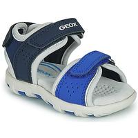 Pantofi Băieți Sandale  Geox SANDAL PIANETA Albastru