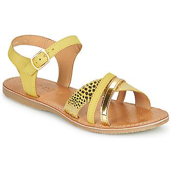 Pantofi Fete Sandale  Geox J SANDAL EOLIE GIRL Galben / Auriu