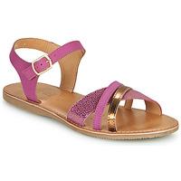 Pantofi Fete Sandale  Geox J SANDAL EOLIE GIRL Roz / Auriu