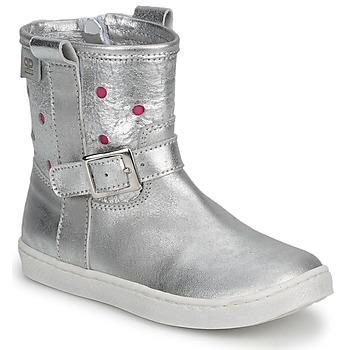Pantofi Fete Ghete Pinocchio  Silver / FUXIA