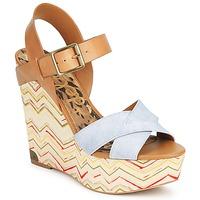Pantofi Femei Sandale și Sandale cu talpă  joasă Sam Edelman SASHA Denim-washed