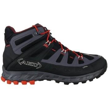 Pantofi Bărbați Drumetie și trekking Aku Selvatica Mid Gtx Negre, Grafit