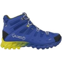 Pantofi Bărbați Drumetie și trekking Aku Selvatica Mid Gtx Goretex Albastre, Galbene