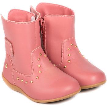 Pantofi Fete Ghete Bibi Shoes Ghete Fetite Bibi Rainbow Caramel Roz