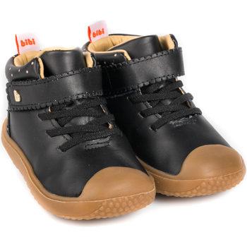 Pantofi Fete Ghete Bibi Shoes Ghete Fete Bibi Prewalker Black Negru