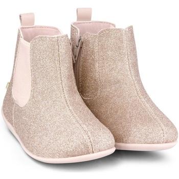 Pantofi Fete Ghete Bibi Shoes Ghete Fetite Bibi Rainbow Camelia Glitter Roz