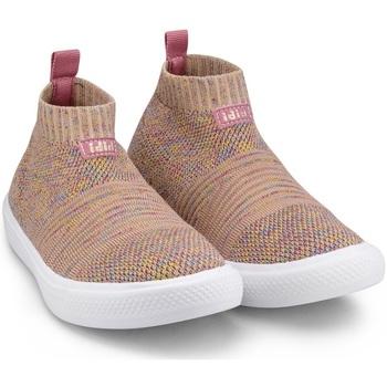 Pantofi Fete Pantofi sport stil gheata Bibi Shoes Ghete Fete Bibi Agility Knit Camelia Roz