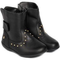 Pantofi Fete Ghete Bibi Shoes Ghete Fetite Bibi Rainbow Black Negru