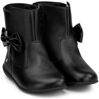 Pantofi Fete Ghete Bibi Shoes Ghete Fetite Bibi Rainbow Black cu Funda Negru