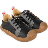 Pantofi Băieți Pantofi sport Casual Bibi Shoes Pantofi Baieti Bibi Prewalker Grafit cu Siret Elastic Negru