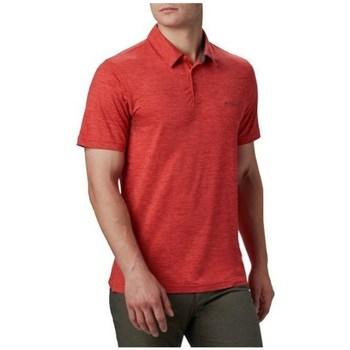 Îmbracaminte Bărbați Tricou Polo mânecă scurtă Columbia Tech Trail Polo Shirt Roșii