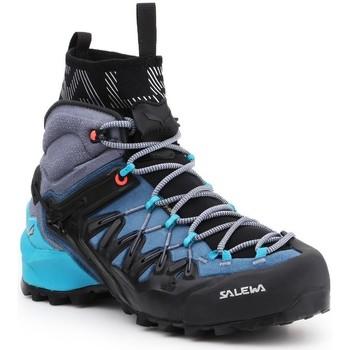 Pantofi Femei Drumetie și trekking Salewa WS Wildfire Edge MID GTX 61351-8975 navy , grey, black