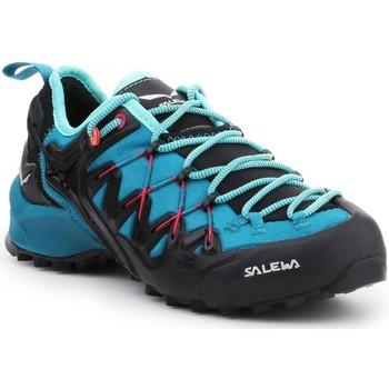 Pantofi Femei Drumetie și trekking Salewa WS Wildfire Edge 61347-8736 black, blue