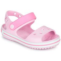 Pantofi Fete Sandale  Crocs CROCBAND SANDAL KIDS Roz