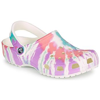 Pantofi Femei Saboti Crocs CLASSIC TIE DYE GRAPHIC CLOG Multicolor