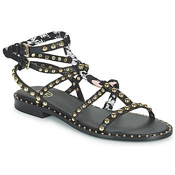 Pantofi Femei Sandale  Ash PATCHOULI Negru / Multicolor