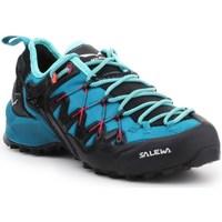 Pantofi Femei Trail și running Salewa WS Wildfire Edge Albastre, Grafit