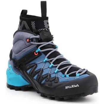 Pantofi Femei Drumetie și trekking Salewa WS Wildfire Edge Mid Gtx Negre, Albastre, Grafit