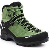 Pantofi Bărbați Drumetie și trekking Salewa MS Mtn Trainer Mid Gtx Negre,Verde