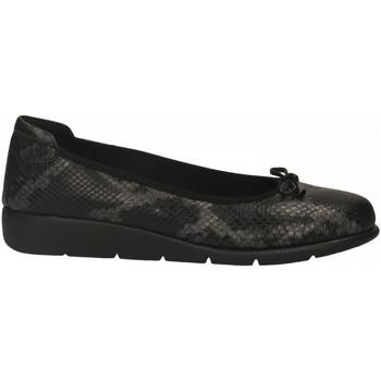 Pantofi Femei Balerin și Balerini cu curea Frau PYTON black