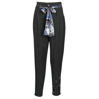 Îmbracaminte Femei Pantaloni fluizi și Pantaloni harem Desigual CHARLOTTE Negru