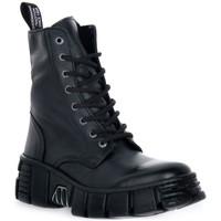 Pantofi Ghete New Rock WALL ASA LUXOR NEGRO Nero
