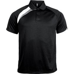 Îmbracaminte Bărbați Tricou Polo mânecă scurtă Proact Polo manches courtes  Sport noir/blanc/gris clair