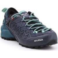 Pantofi Femei Drumetie și trekking Salewa WS Wildfire Edge GTX 61376-3838 black, green, navy