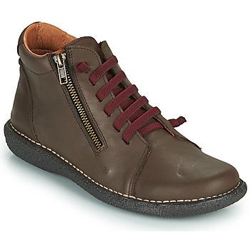 Pantofi Femei Pantofi Derby Casual Attitude NELIO Maro