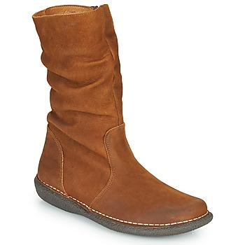 Pantofi Femei Ghete Casual Attitude NIELOO Camel